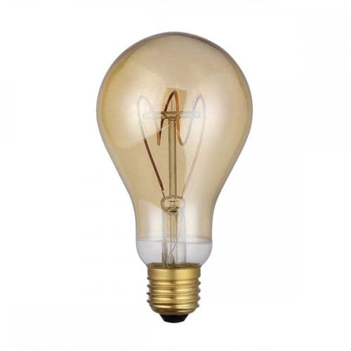 Dar Pack Of 5 E27 4w LED Dimmable Vintage Large Glass Lamp